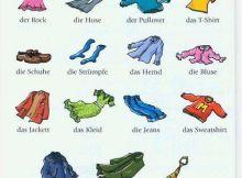 Vocabulario prendas de vestir en alemán