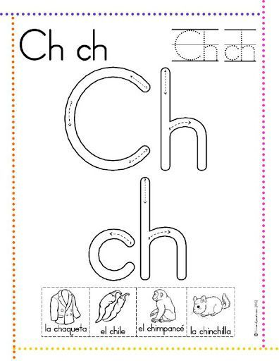 caligrafía letra ch