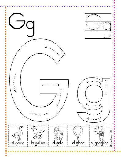 caligrafía letra g