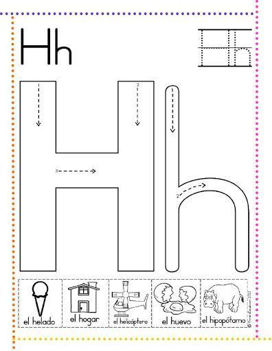 caligrafía letra h