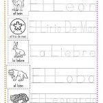 ejercicios de caligrafía letra l