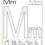 caligrafía letra m