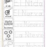 ejercicios caligrafía letra n