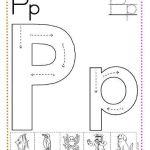 Fichas de caligrafía letra p