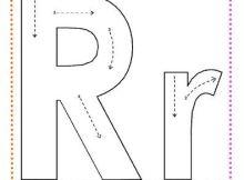 caligrafía letra r