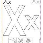 caligrafía letra x