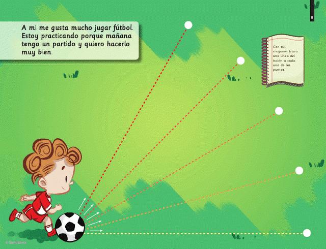 grafomotricidad fútbol trazos rectos