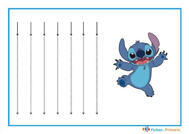 trazos verticales para infantil