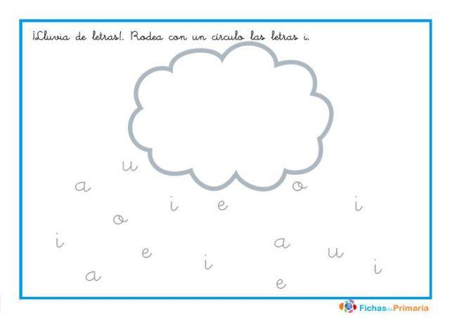 actividades infantiles rodea las letras i