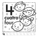 el número 4 en inglés para infantil