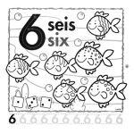 el número 6 en inglés para infantil