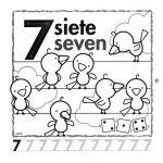 el número 7 en inglés para infantil