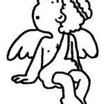 Figura del ángel sentado