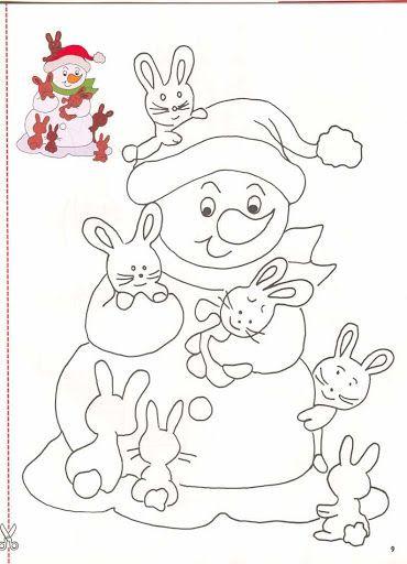 Plantillas para colorear el invierno y la navidad fichas de primaria - Plantillas para dibujar en la pared ...