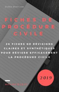 Couverture - Fiches de procédure civile