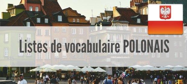 fiche liste vocabulaire polonais pdf