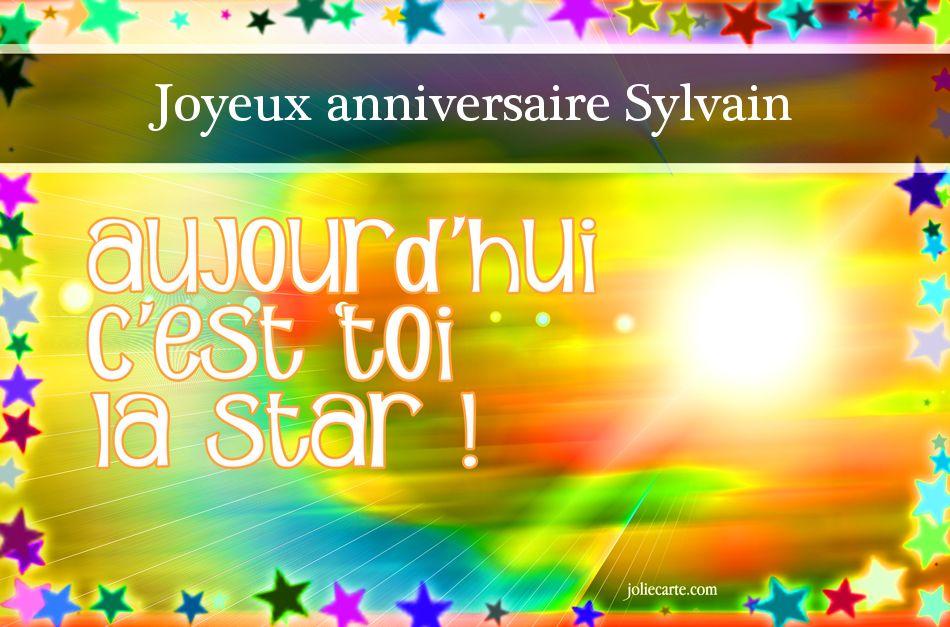 Joyeux Anniversaire Sylvain