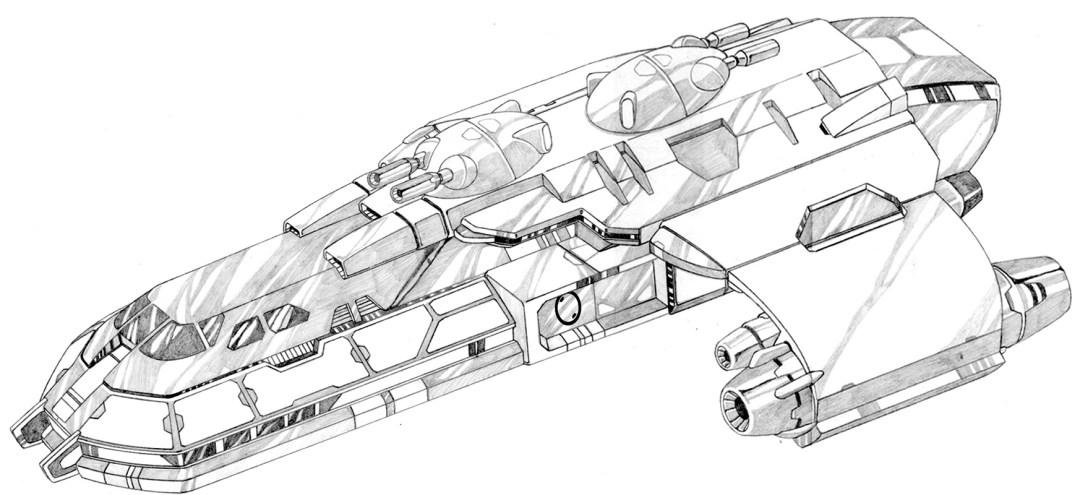 ship pencil drawing