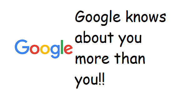 google know about you more than you