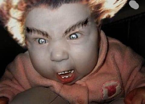 angry baby Photoshop