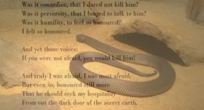 Snake Lawrence poem analysis summary explanation review