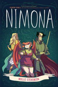 nimona, noelle stevenson, nimona book, nimona graphic novel, ya graphic novels, ya books, ya magazine, ya book magazine, fictionist