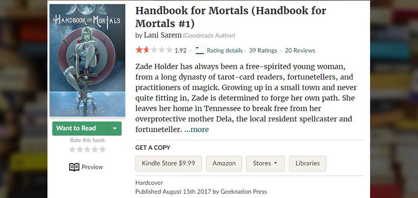 'Handbook for Mortals' Buys Itself Onto NYT Bestseller List