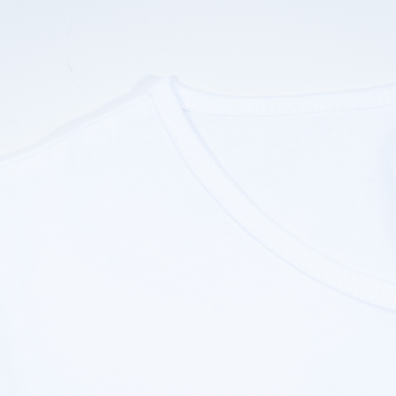 white unisex dropneck t-shirt