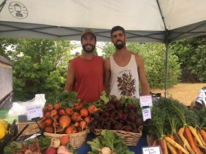 Graham and Brad at Creemore Farmer's Market