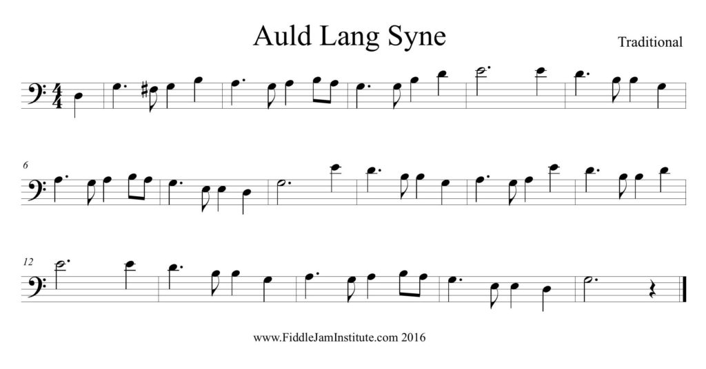 Fiddle Music Auld Lang Syne