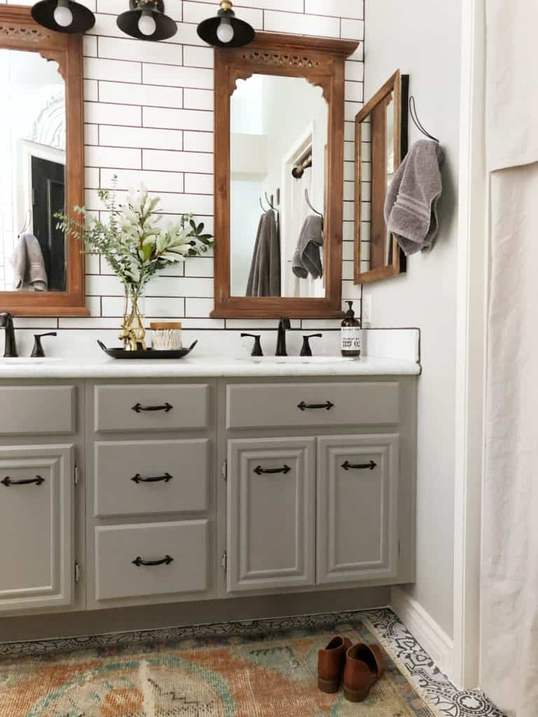 one room challenge farmhouse bathroom after photo