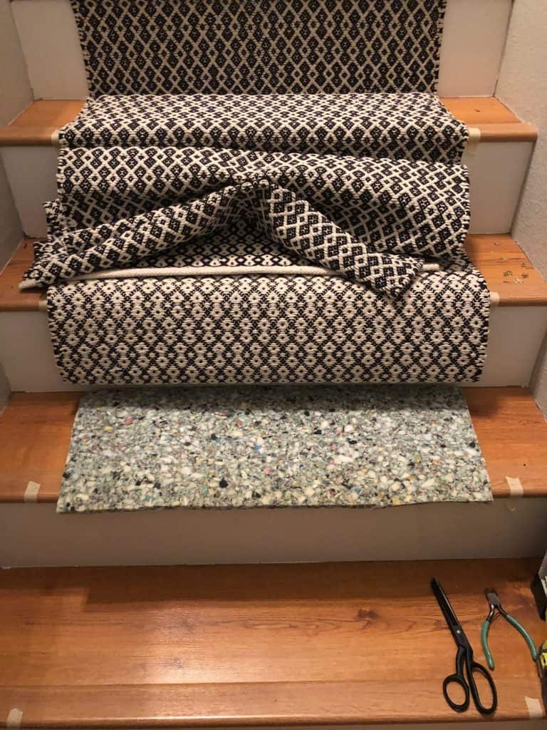 diy carpet stair runner tutorial