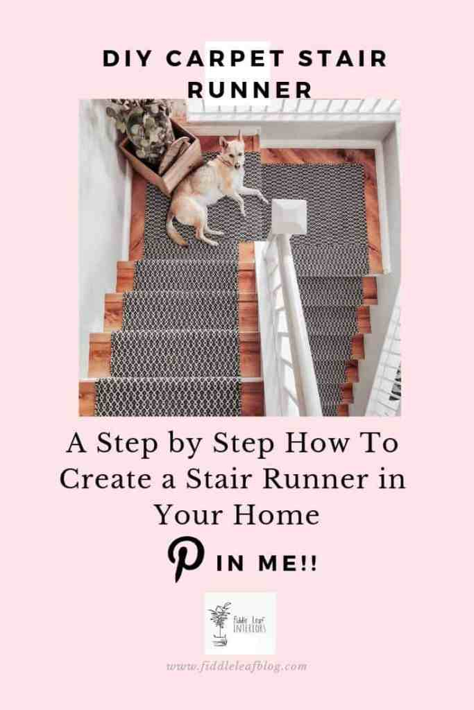 DIY stair runner tutorial