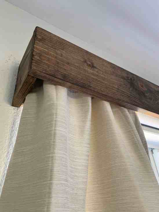 wood window valance how to