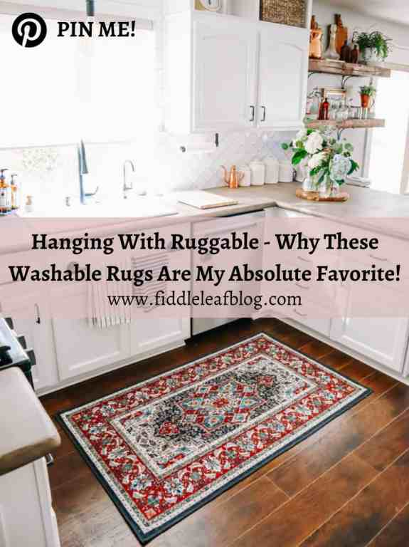 Why washable  Ruggable Rugs are our favorite new rug system! | Fiddle Leaf Interiors