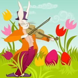easter-bunny-violin