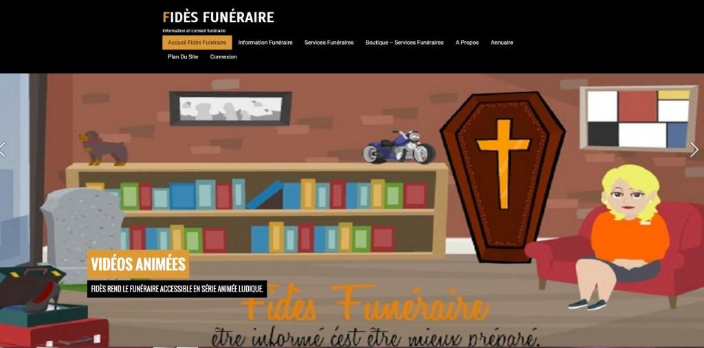 nouveau site fidès funéraire