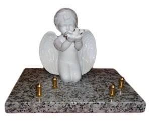 plaque funéraire personnalisée ange