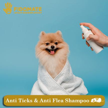 Anti ticks and anti flea shampoos