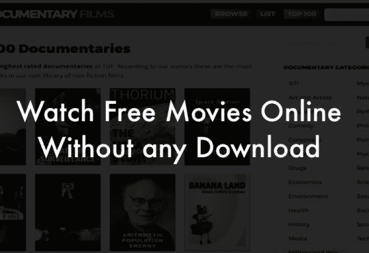 Watch movies without download or signup