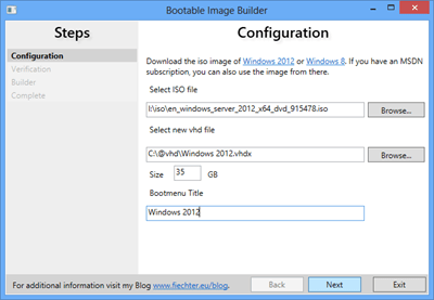 Bootable Image Creator (Easy multi-boot from VHD – Virtual Disk