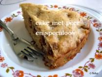 33 Cake met peer en speculoos - met tekst