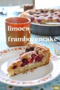 Limoen-frambozencake - Fiekefatjerietjes