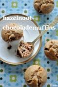 Hazelnoot-chocolademuffins - Fiekefatjerietjes