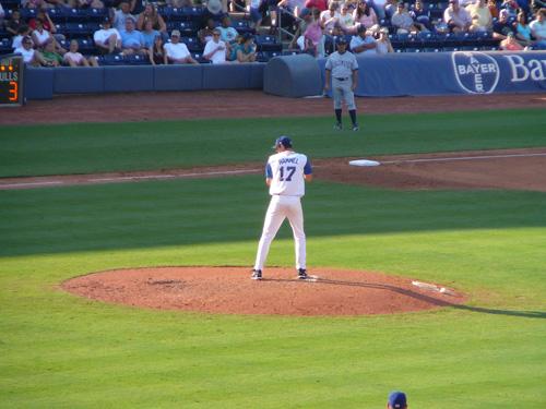 Jason Hammel on the mound