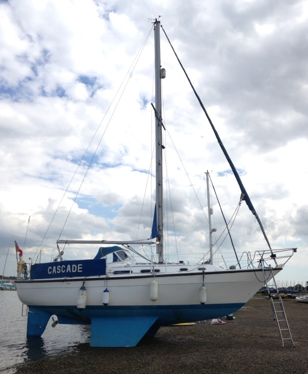 Insurance survey of Colvic Countess 33 at Itchenor, Chichester