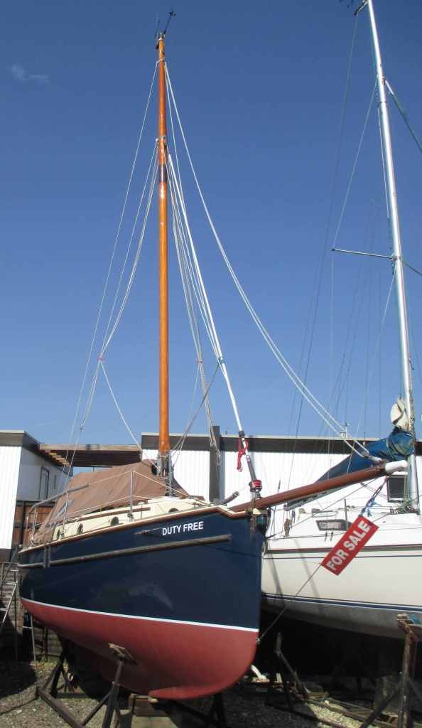 Pre-purchase survey of Norfolk Smuggler 25 at Emsworth Marina, Hampshire