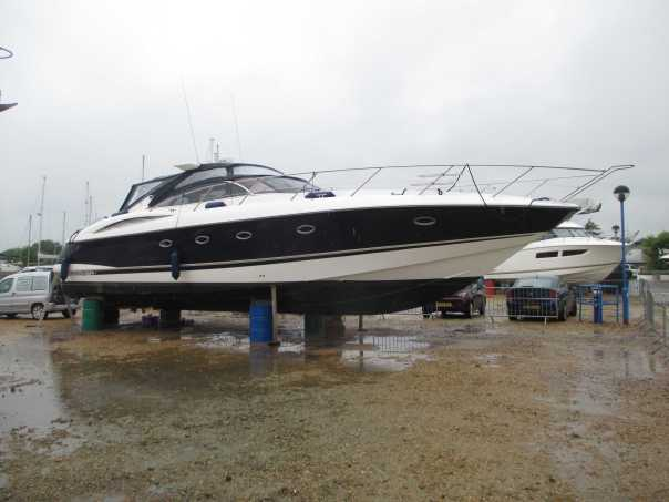 Survey of Sunseeker Camargue 50 at Lymington Yacht Haven, Hampshire