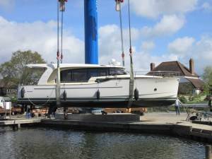 Greenline 40 at Birdham Pool Marina