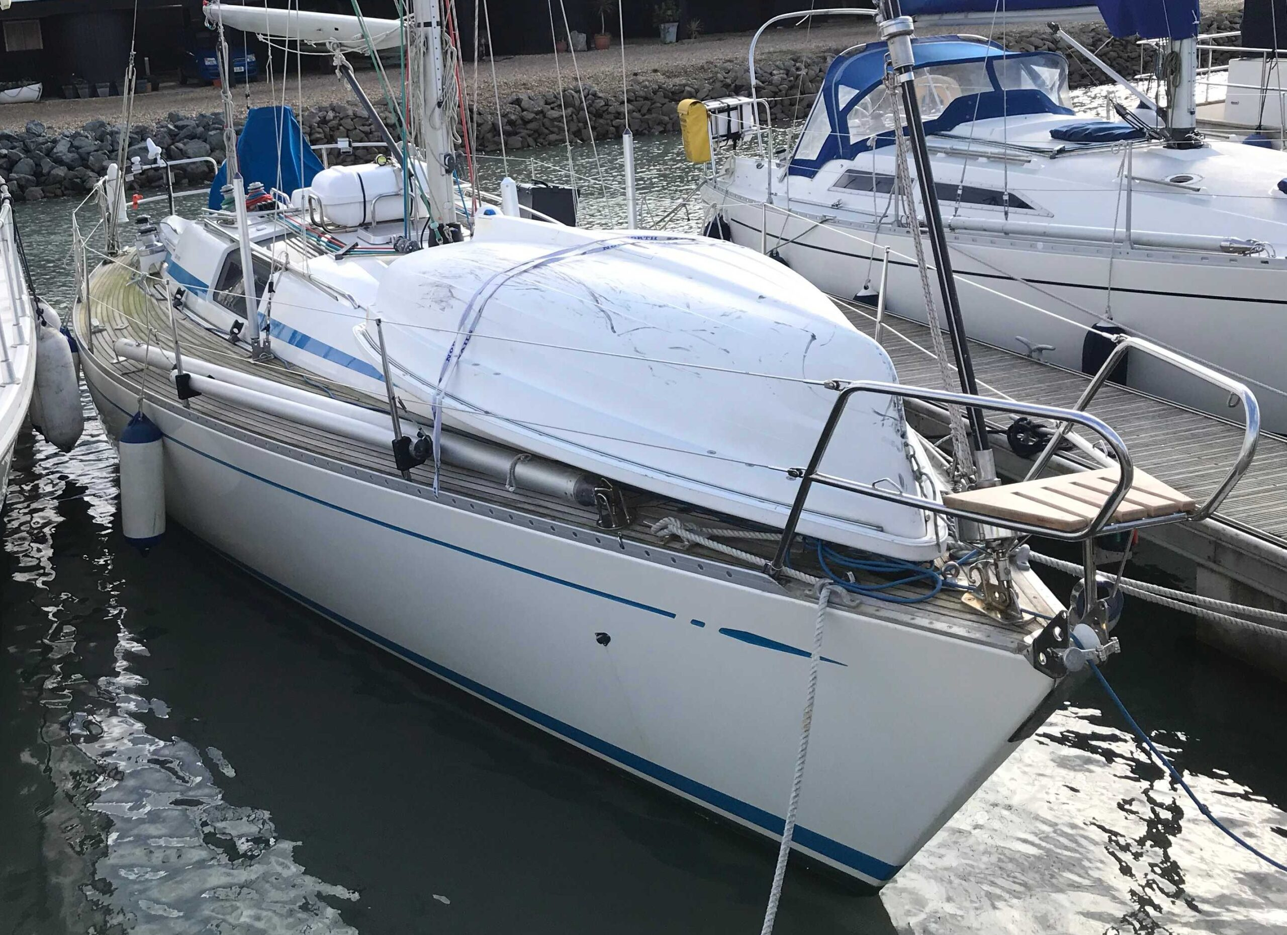 Insurance Survey of Swan 36 at Emsworth Yacht Harbour